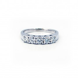 Five Diamond Basket Ring