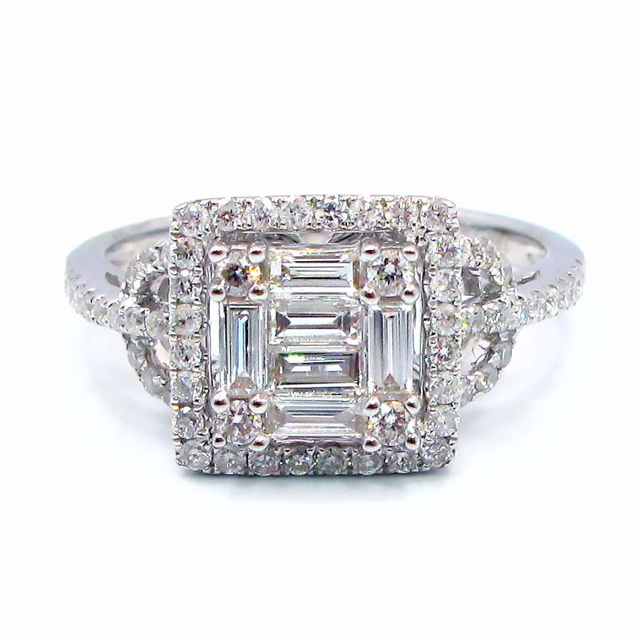 rings ring square engagement product carat princess moissanite cut model shot round neo eliza wedding elizad