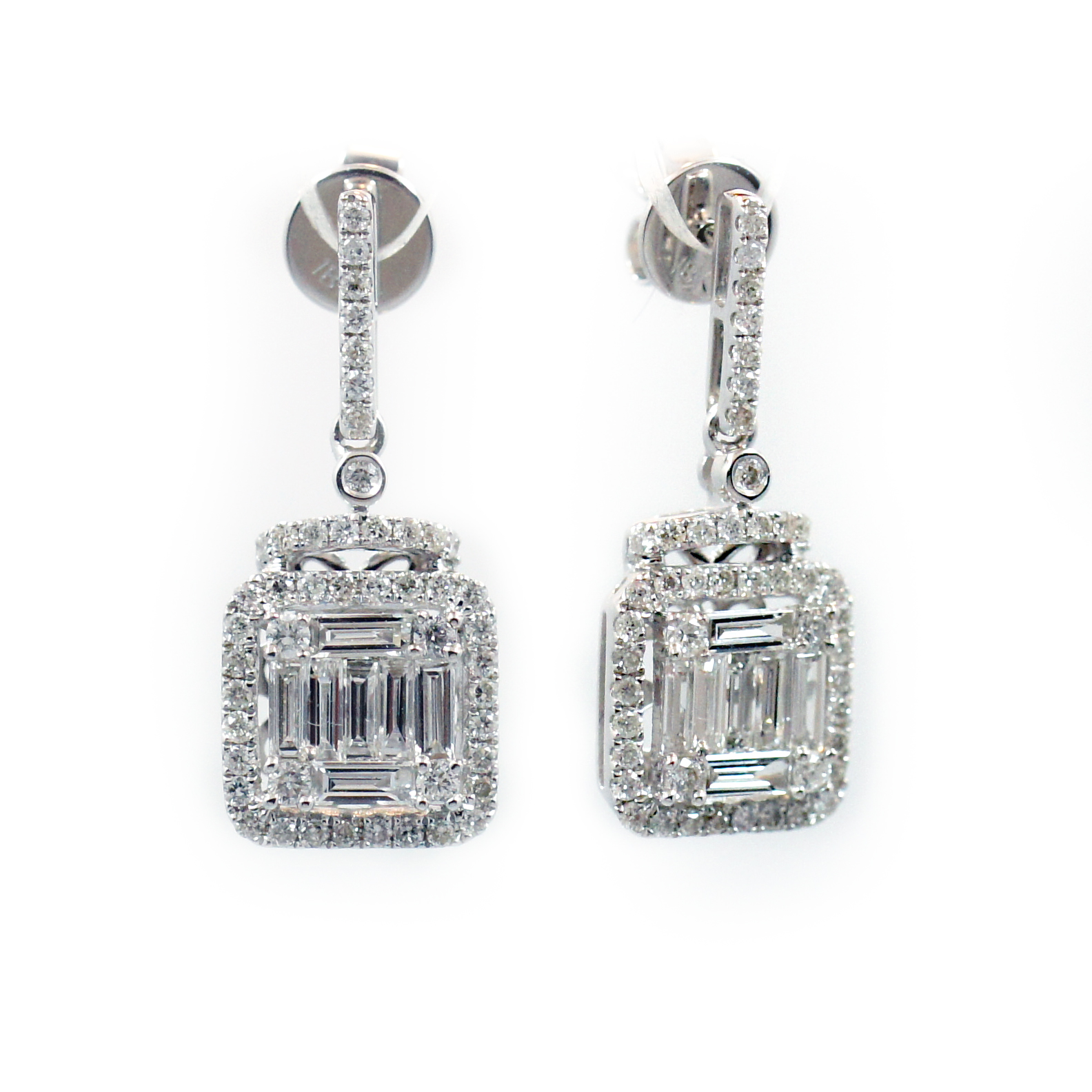 earrings baguette img product diamond