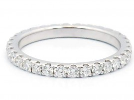 This is a picture of a Diamond Eternity Band in 14k White Gold