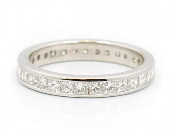 This is a picture of a Princess Cut Diamond Eternity Band