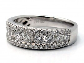 This is a picture of a Tapered Diamond Band in 18k White Gold