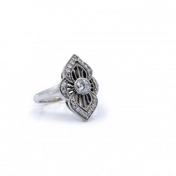 Diamond Decor Quarter Carat Center Ring