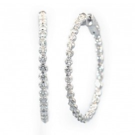 This is a picture of Inside-Outside Diamond Hoop Earrings