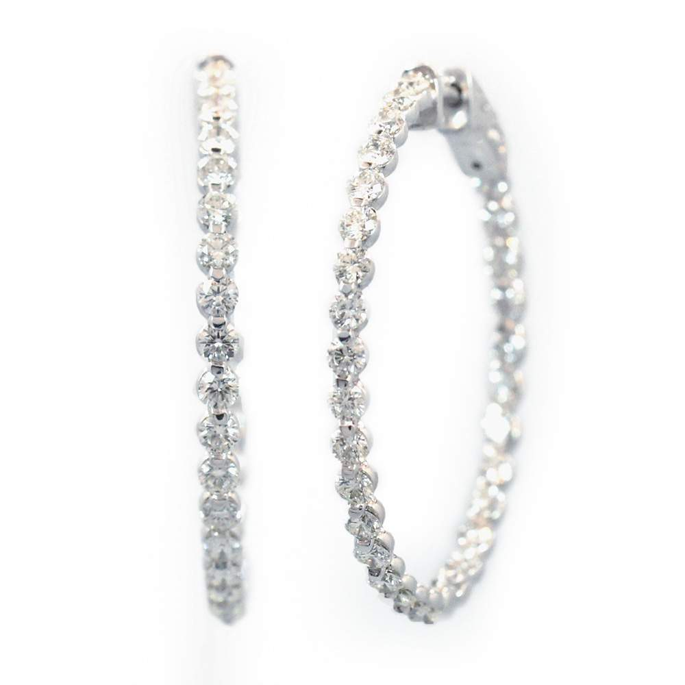 Inside Outside Diamond Hoop Earrings