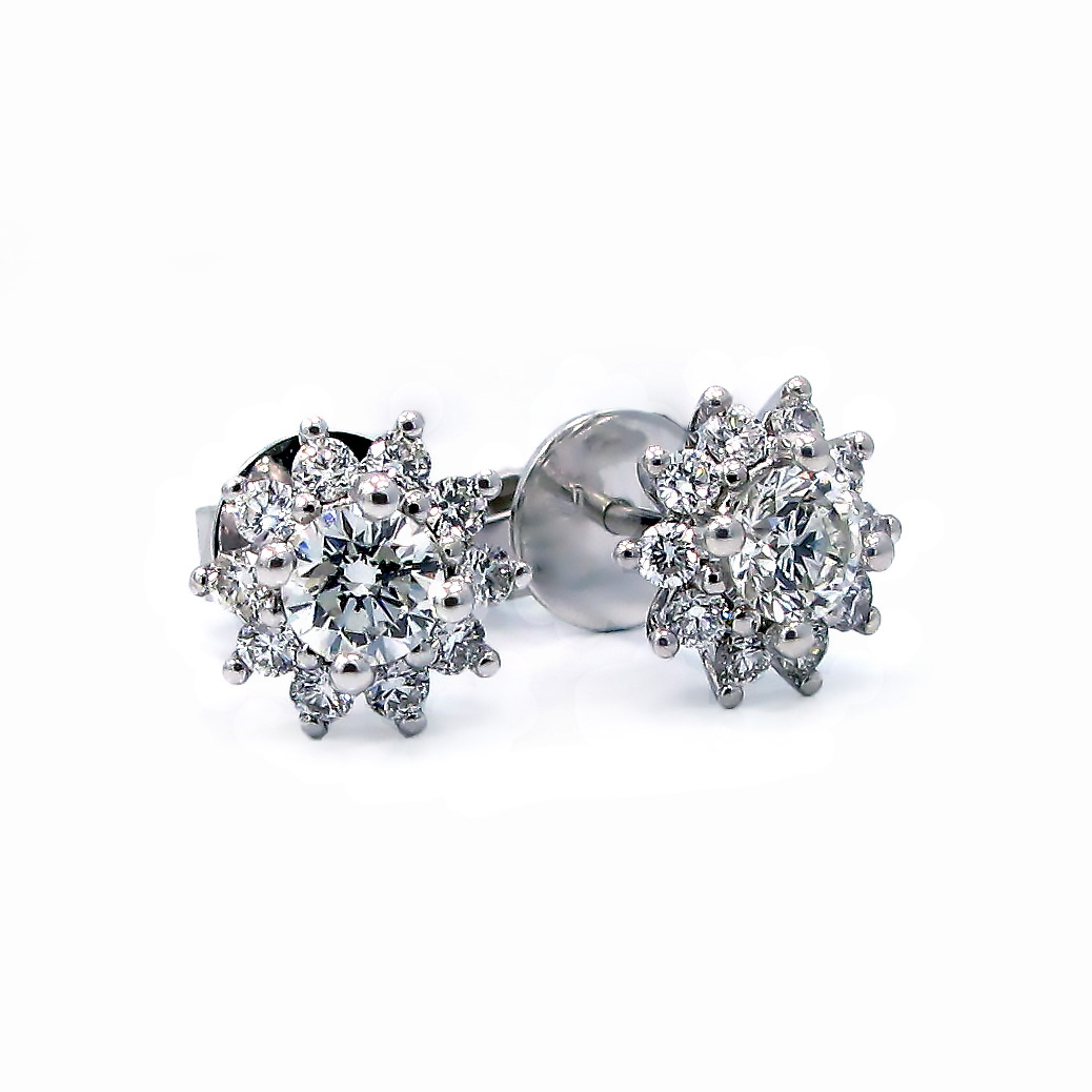 cut halo diamond earrings cushion stud mhjhjh forevermark