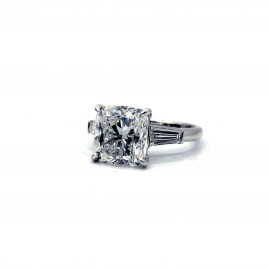 Cushion Diamond Ring. Designed by Reuven Gitter Jewelers
