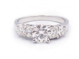 This is a picture of a White Gold Five Stone Engagement Ring
