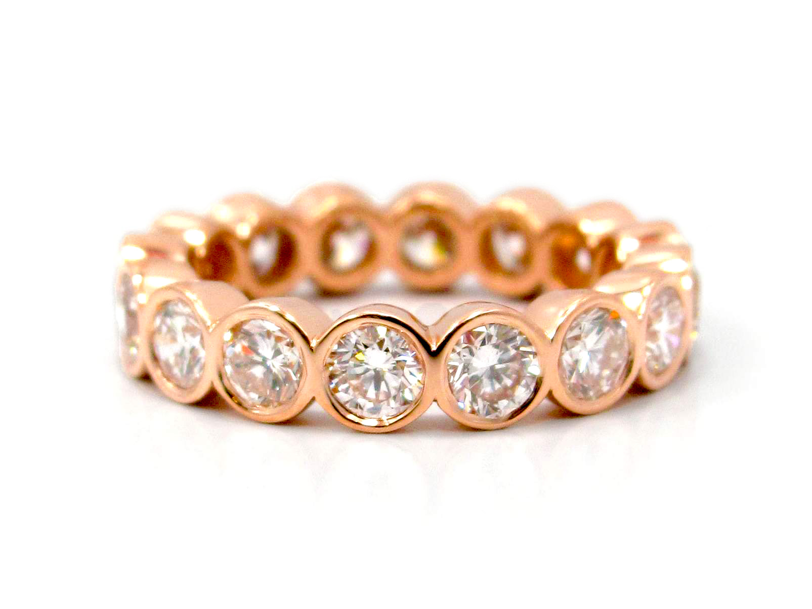 arrivals rainbow bands collections new eternity products band rose gold