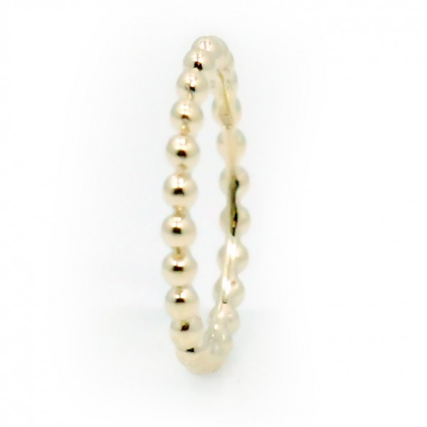 This is a picture of a 14k Yellow Gold Bead Band