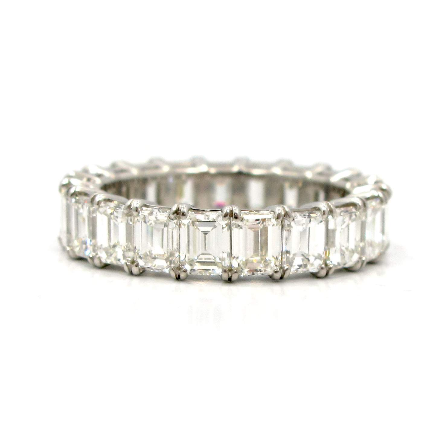gold setting band with thin france emerald products all french diamond diamonds a furst around bands eternity ring white