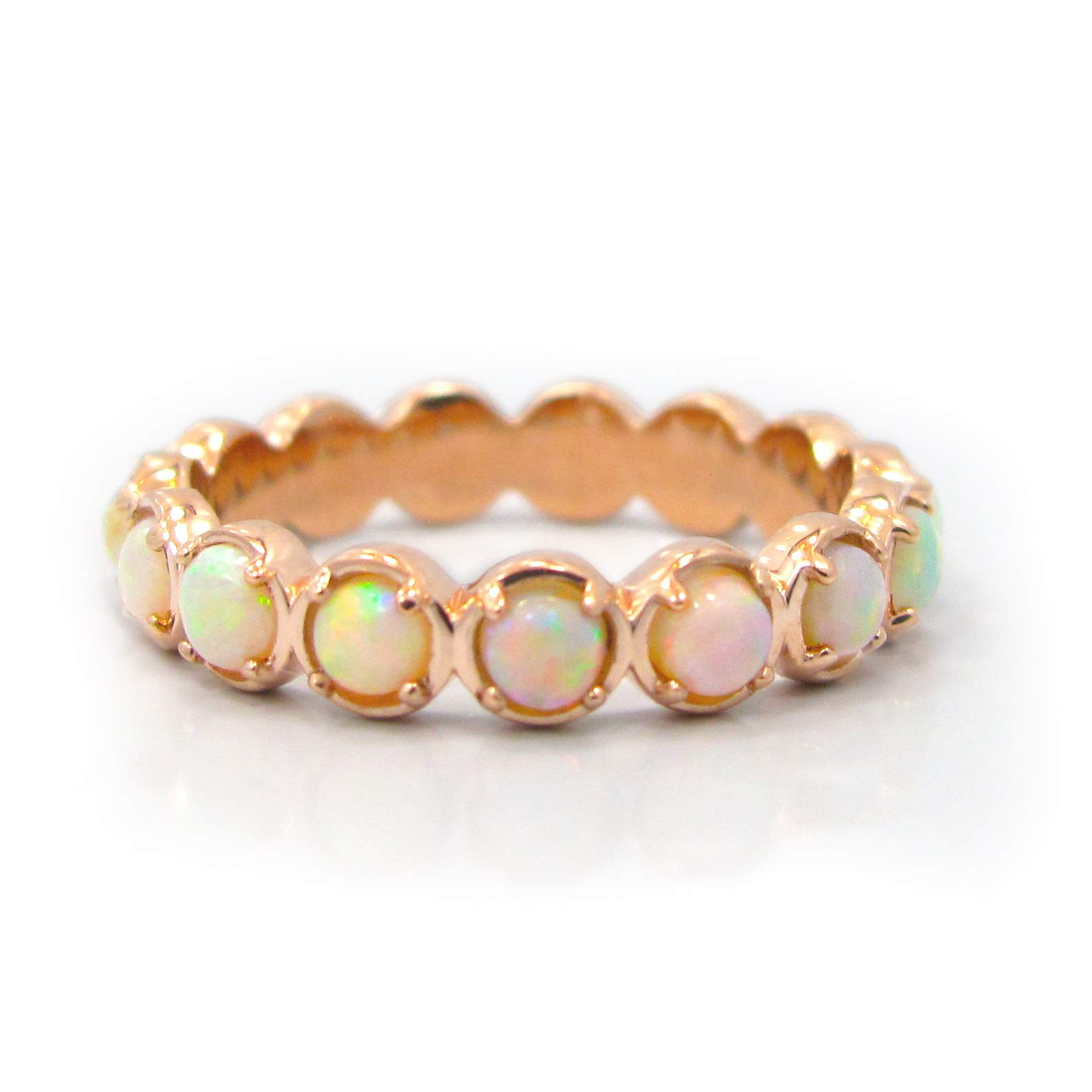 gold sapphire bands rose ring over silver in band p plated pav eternity pink pave