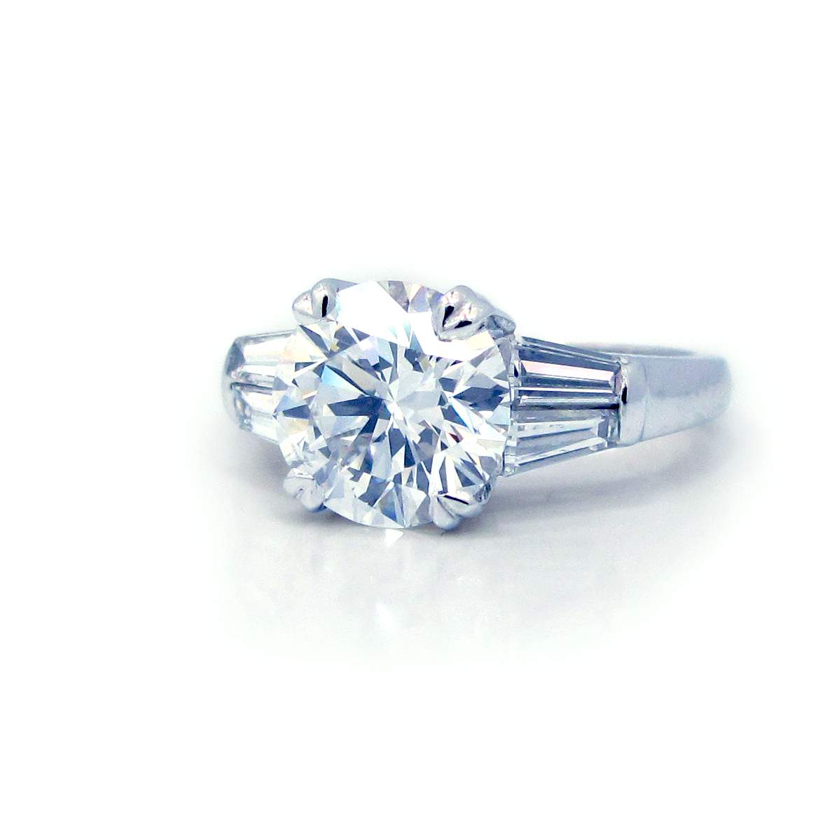 ring product diamond engagement baguette rings webstore white samuel gold d h cluster number