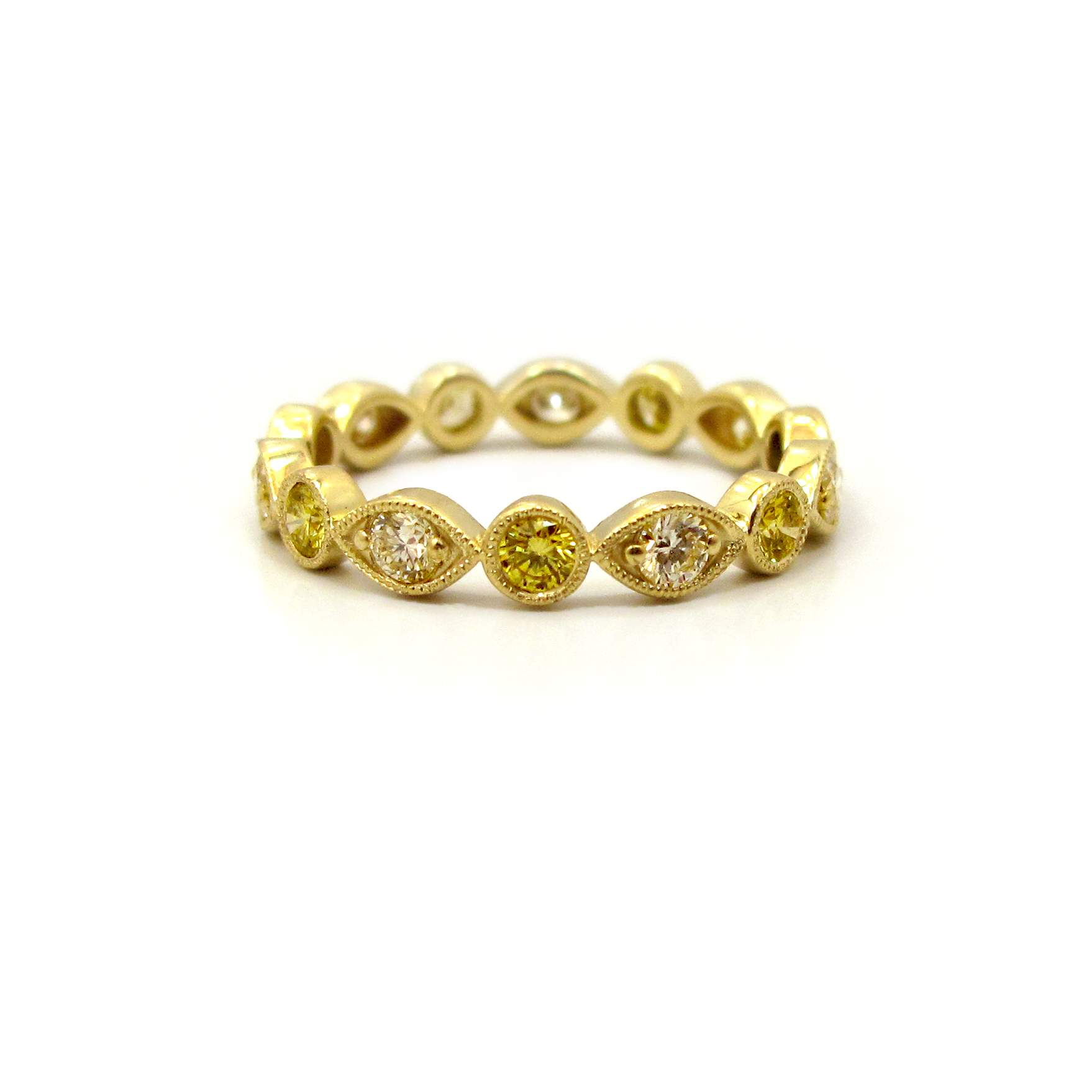 eternity band set diamond bezel bands