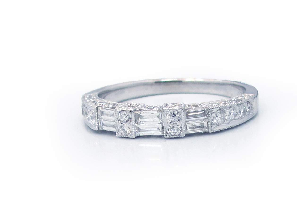diamond baguette linda round diamonds bride brilliant the princess band products