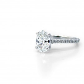 This is a picture of a Split Prong Open Basket Diamond Band Engagement Setting