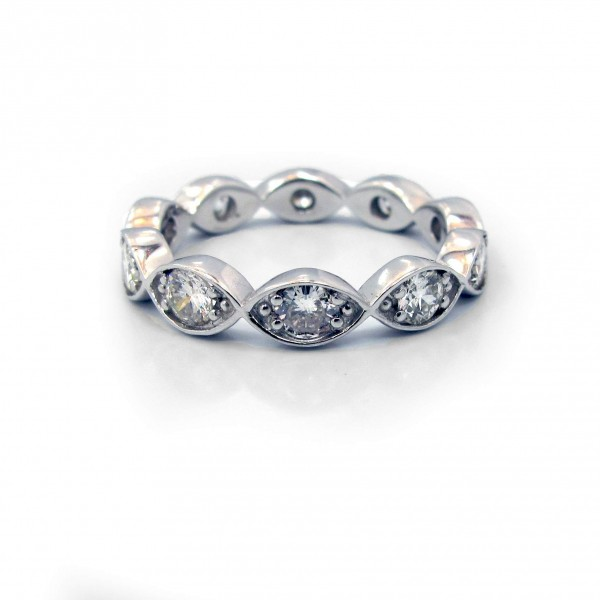 This is a picture of a Diamond Band with Marquise-Shaped Bezels