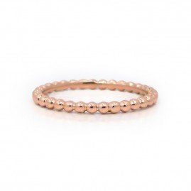 This is a picture of a 14k Rose Gold Bead Band