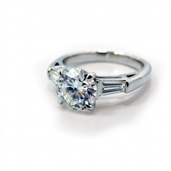 This is a picture of Platinum Tapered Baguette Diamond Engagement Ring