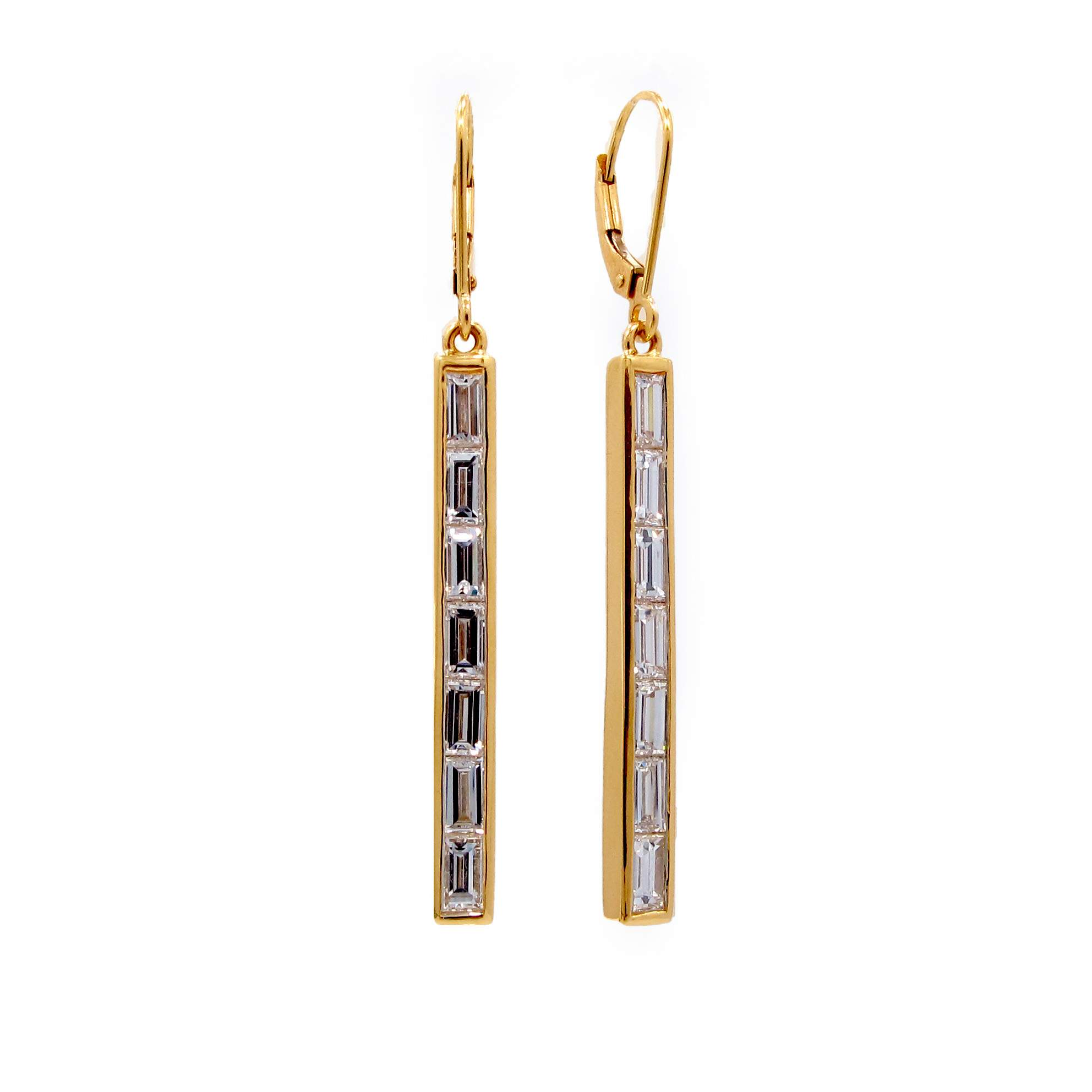 yellow hoops gold earrings diamond j hoop baguette product