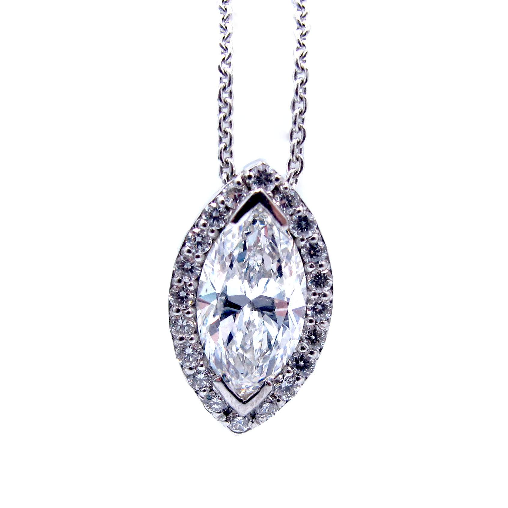 diamond product cut emerald marquise french necklace platinum emeralds in pendant modern