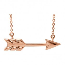 This is a picture of an Arrow Necklace in 14k Rose Gold
