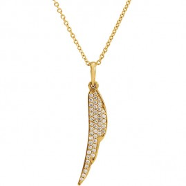 Gold and Diamond Angel Wing necklace