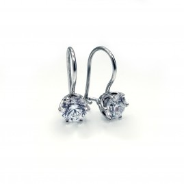 Diamond French Wire Earrings