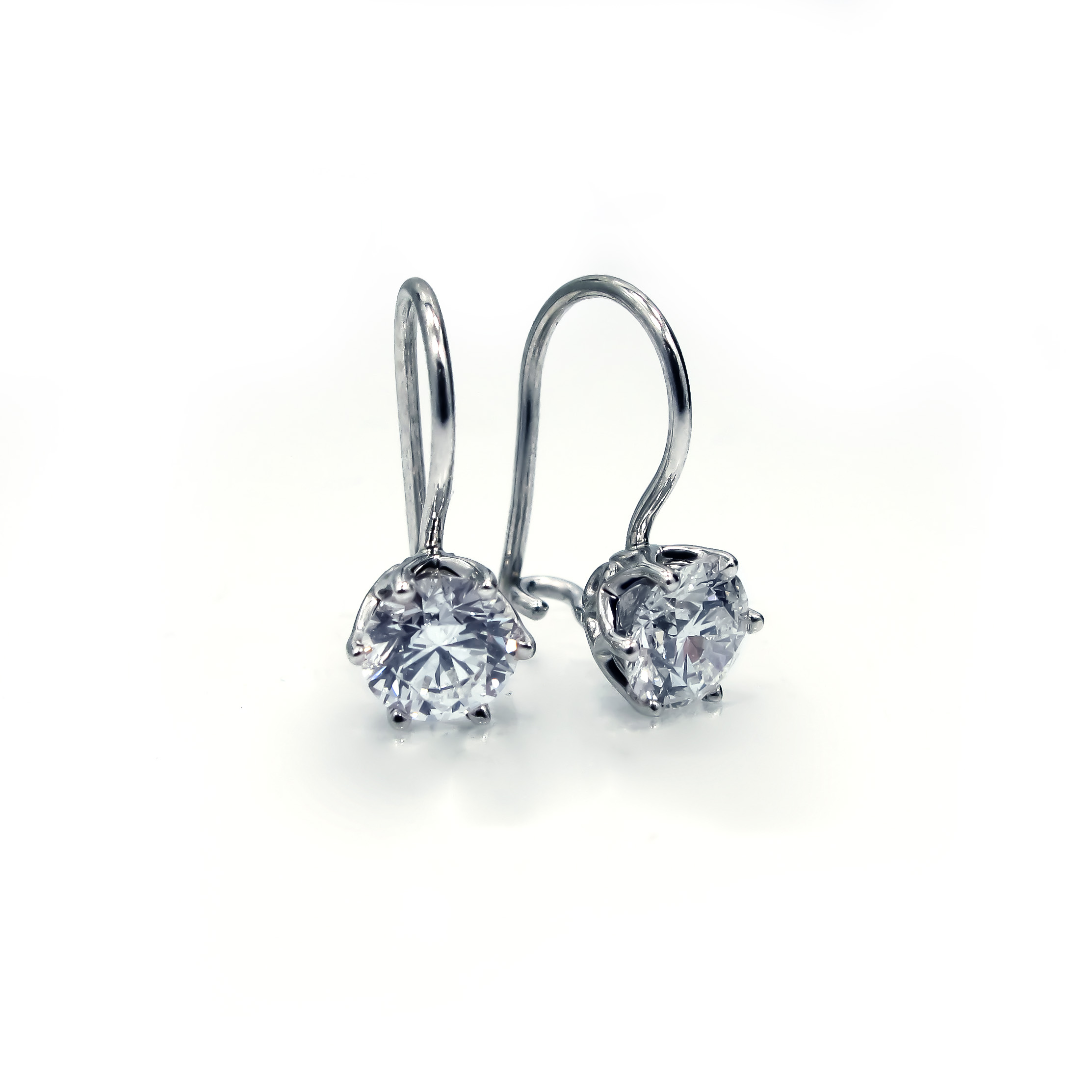 Diamond Brilliant French Wire Studs | Reuven Gitter Jewelers