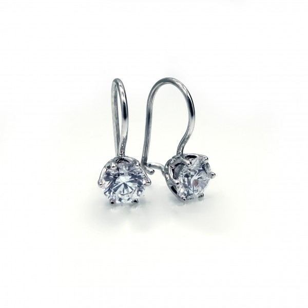 This is a picture of French Lever Scroll Designer Earrings