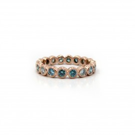 Blue Diamond/Rose Gold Ring