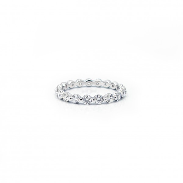 Single-Prong Diamond Eternity Band 1