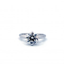 Six Prong 1.80ct Solitaire Platinum