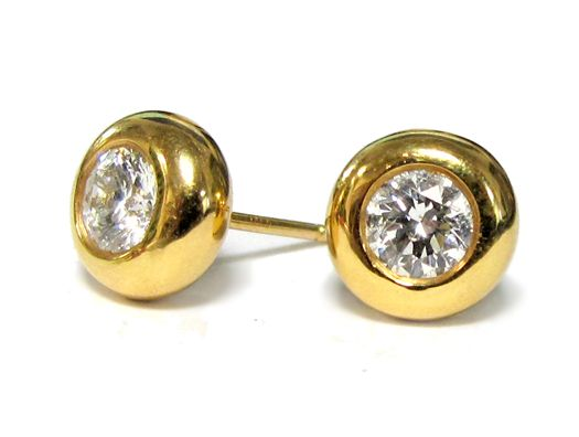 1 02cttw Donut Bezel Diamond Earrings