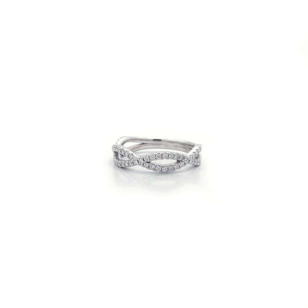 White gold and diamond infinity design - Long